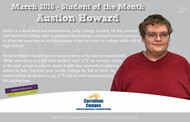 HCHS Senior and Early College Student Earns Student of the Month at Carrollton-JCTC