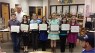 Campbellsburg Students give presentation to HCPS Board on 7 Habits of Highly Effective People