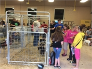 HCHS Agricuture Students hold Animals for Learning Event