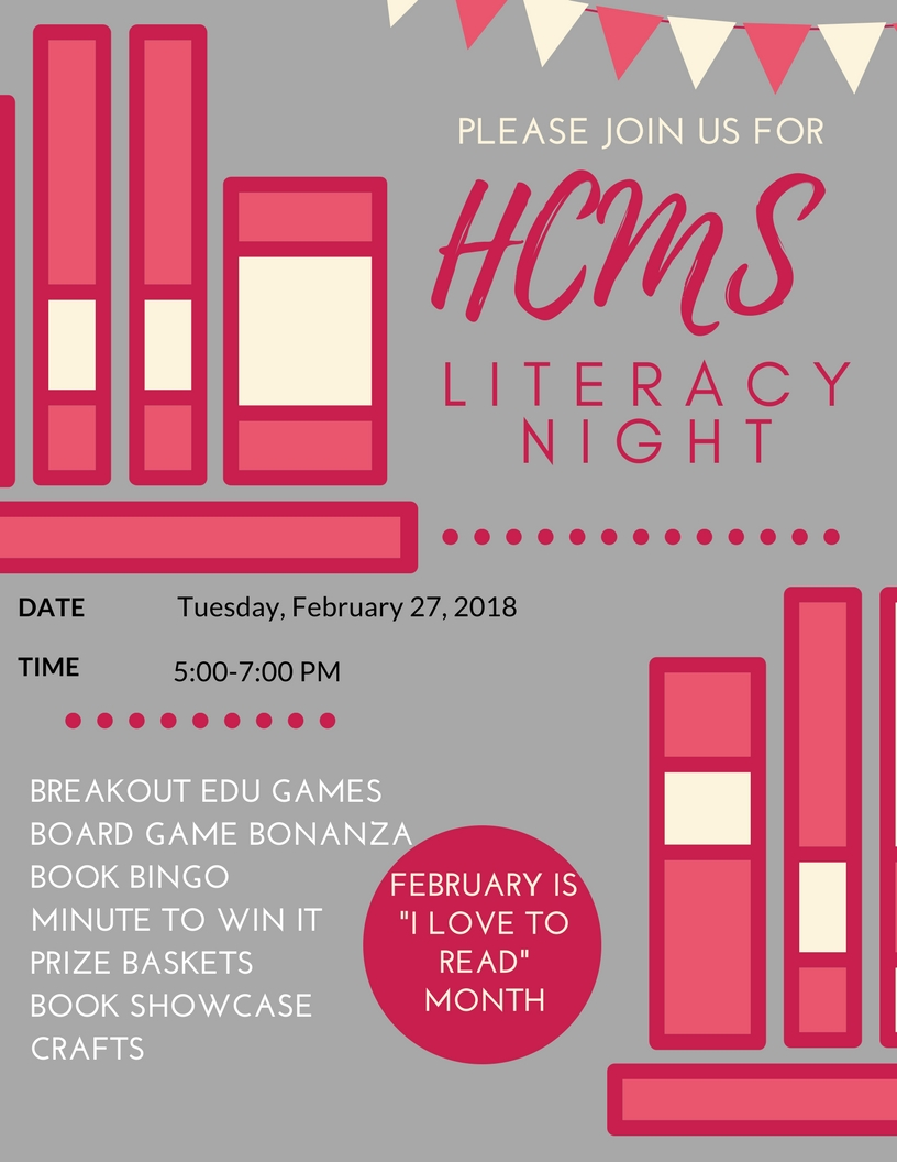 HCMS Literacy Night Flyer